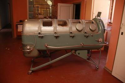 Jernlungen var en pustemaskin som skulle hjelpe pasienter som hadde problemer med å puste. Foto: NTNU